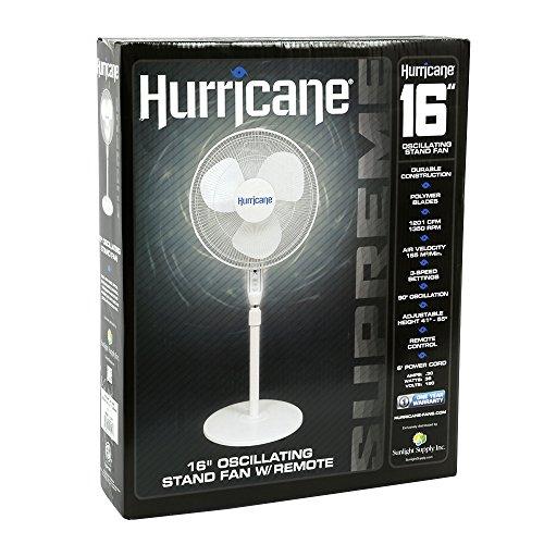 18 InchSupreme SeriesPedestal Fan with Remote Contro Hurricane Stand Fan