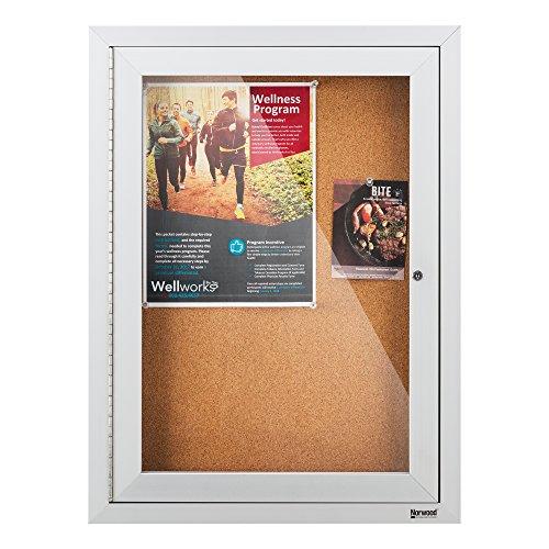 Enclosed Bulletin Board Case (Outdoor/Indoor Enclosed Cork, Bulletin Board with One Door, 30