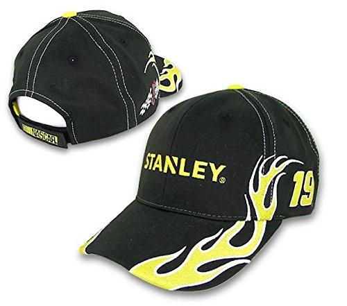 【安心発送】 Carl Edwards B00UJX1BPQ NASCAR ブラック Stanley # 19 Carl Big炎調節可能な帽子 – ブラック B00UJX1BPQ, 木製アウトレット再生工場:9fecb9b3 --- arianechie.dominiotemporario.com