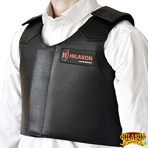 Pro Rodeo Horse - HILASON Junior Leather Bareback Pro Rodeo Horse Riding Protective Vest
