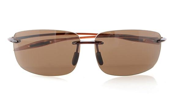 Eyekepper Randlos Sonnenbrille TR90 Unbreakable Rahmen Trogamid Nylon Linsee Männer Frauen, Brown Lens,