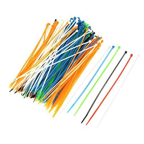 Amazon.com: eDealMax 300pcs 2.5mm x 200mm plástico autoblocantes Zip Ties Sujetador colorido: Electronics