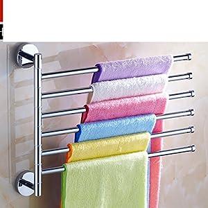 60%OFF Full rotating copper towel rack/Stainless steel bathroom towel bar activities/Towel hanging for bathroom-E