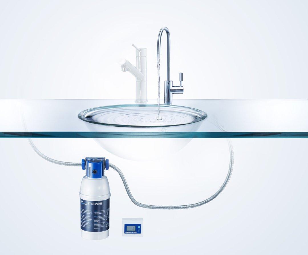 mavea aktiv premium undersink water filtration system water filters amazoncom - Undersink Water Filter