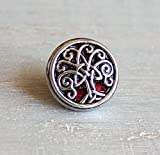 Red Celtic tree of life tie tack/lapel pin.