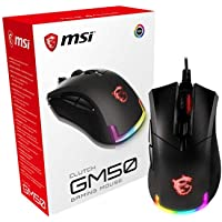 MSI CLUTCHGM50 Gaming USB RGB Adjustable up to 7200 DPI 1ms 6 Buttons Desktop Laptop Gaming Grade Optical Mouse (Clutch…