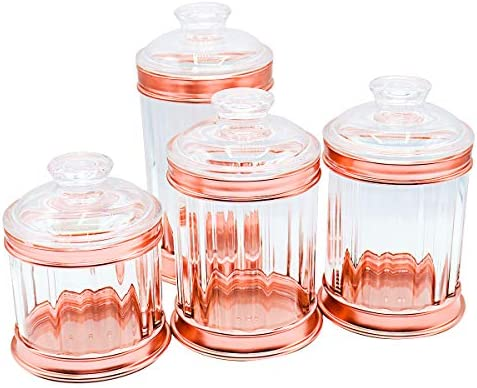 Bin Shihoun Abomar Tea Coffee Sugar Acrylic Kitchen Storage Canisters Jars Pots Containers Clear Set Of 4 Buy Online At Best Price In Ksa Souq Is Now Amazon Sa