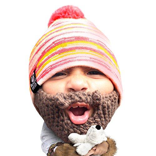 Beard Head - The Original Kid Allie Knit Beard Hat (Brown)
