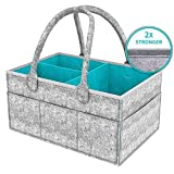 Baby Diaper Caddy Organizer for Changing Table, Nursery Storage Bin for Diapers,Baby Wipes & Kid Toys, Portable Travel Storage Basket, Stylish Large Diaper Caddy, Baby Shower Gift Basket