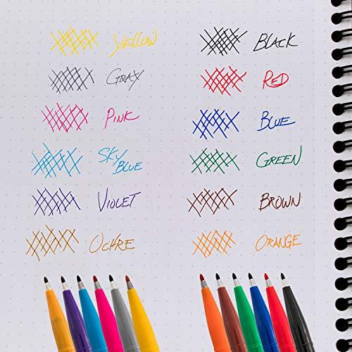 Pentel Arts Sign Pen Fiber-Tipped Pen, Sky Blue Ink, Box of 12 (S520-S)