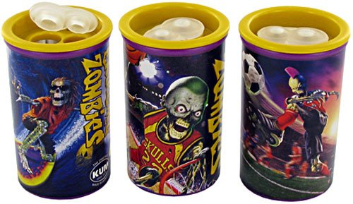Kum 345.02.21 12-Pack Zombies Pencil Sharpener with Polystyrene Container, Colors Vary by Kum
