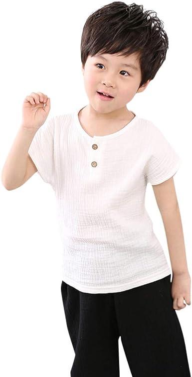 Fulltime (TM) - Camiseta para niños, algodón sólido para bebé ...