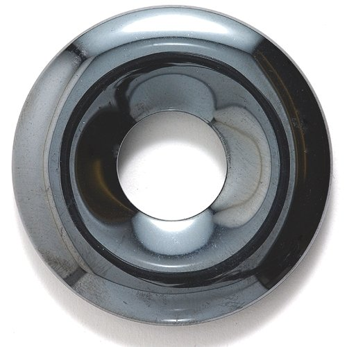 Shipwreck Beads Focal Hematite Donut 40-mm, Pack of 4 ()