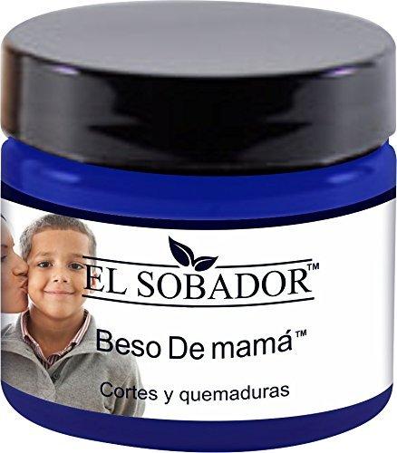 Amazon.com: El Sobador Beso De Mamá - Crema De Primeros Auxilios - para aliviar QUEMADURAS y SARPULLIDOS después de la Depilación (1.01 Oz): Home & Kitchen