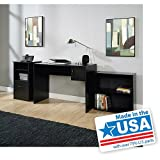 3-Piece Home Office Bundle Bookcase, Desk and Storage Cabinet, Black Finish