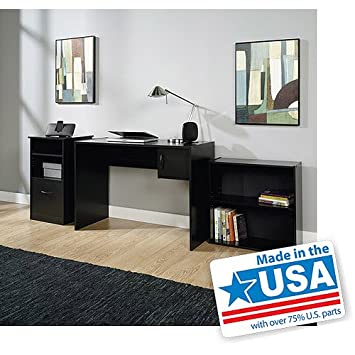 3 piece mainstays home office furniture value bundle computer workstation desk amazon home office furniture