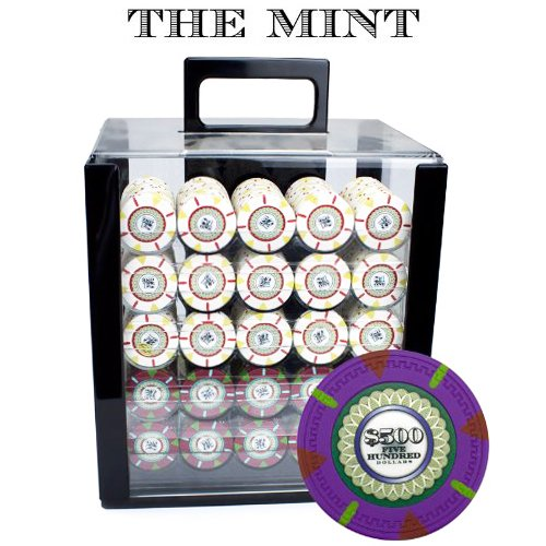 Claysmith Gaming 1000-Count 'The Mint' Poker Chip Set in Acrylic Case, 13.5gm ()