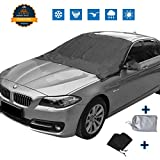 #2: [UPGRATED]Magnetic Edges Automobile Windshield Snow Cover Mirror Cover, Sun Shade Protector Snow Ice Cover Rain Resistant,Universal Waterproof Windshield Cover Car,SUV,TRUCK ,83'' 47