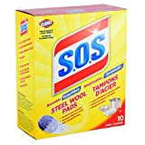 S.O.S Cleaning Steel Soap Wool Pads - 10 Count Box (1 Pack)