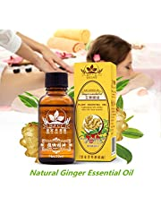 Qiyun Natural Ginger Essential Oil,Plant Therapy Lymphatic Drainage Ginger Oil