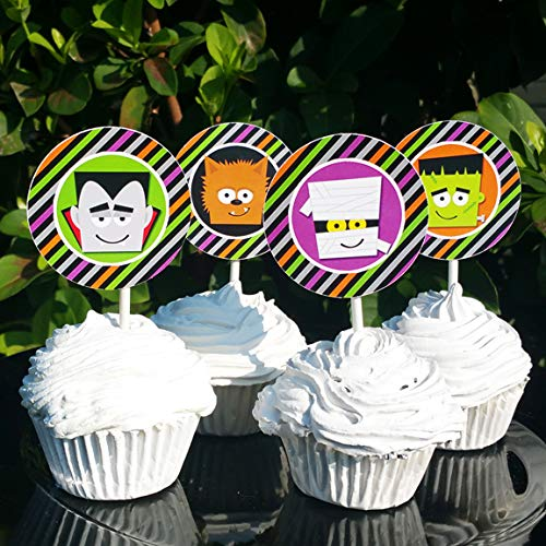 Monster Mash Halloween Cupcake Toppers Picks (12pc) -