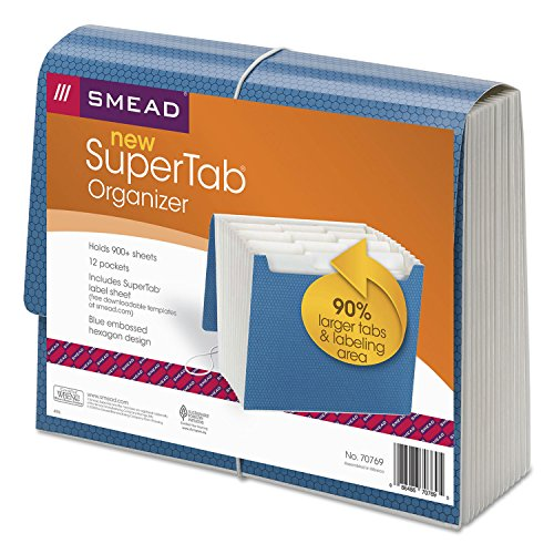 FILE,EXP SUPERTAB LT,BE – SMD70769 by Smead