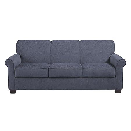 Ashley Furniture Signature Design - Cansler Contemporary Sofa Sleeper - Queen Size Mattress Included - Denim
