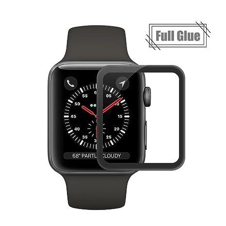 Apple iwatch Series 3 Protection écran en Verre Trempé,Ecoye Full Coverage Protection Ecran pour