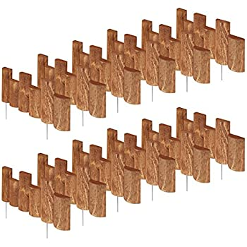 Greenes Fence 18 in. Half Log Edging (12 Pack)