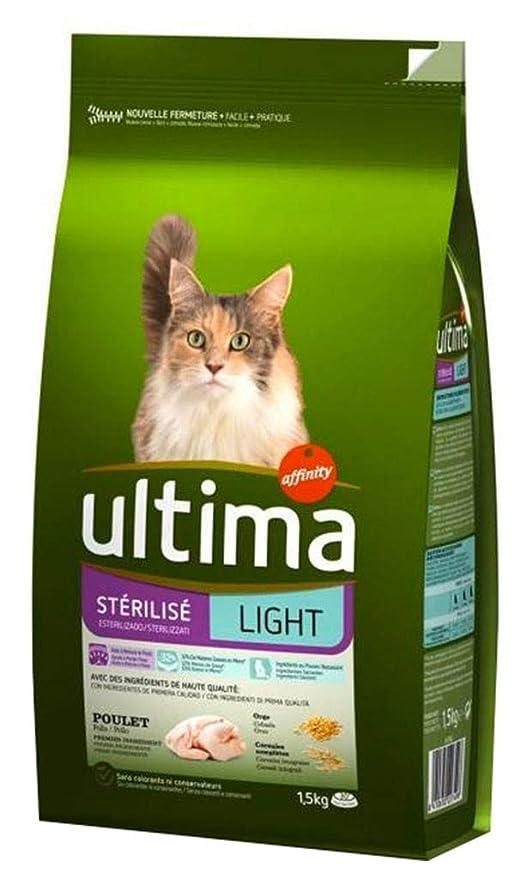 Ultima Gato Esterilizado Seco 1,5 Kg De Pollo Luz (Set De 3 ...