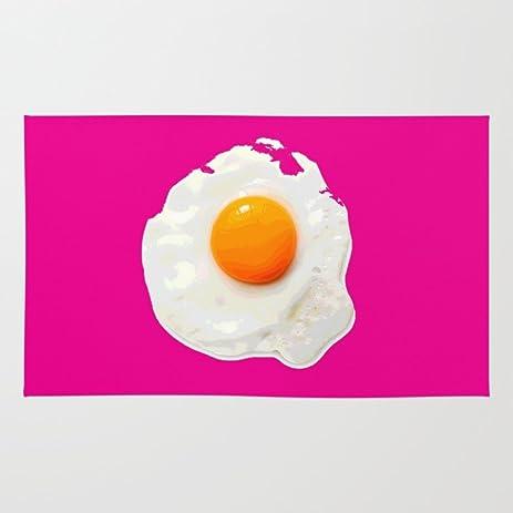 Society6 Sunny Side Up Egg On Hot Pink Rug 4u0027 ...