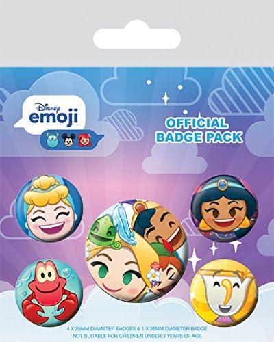 1art1 Princesas Disney - Emoji, 1 X 38mm & 4 X 25mm Chapas Set De ...