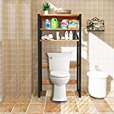 DL furniture - Bathroom Storage Shelf Over Toilet Space Saver | Clothing Racks | Space Organizer | Home Decor | Natural Wood