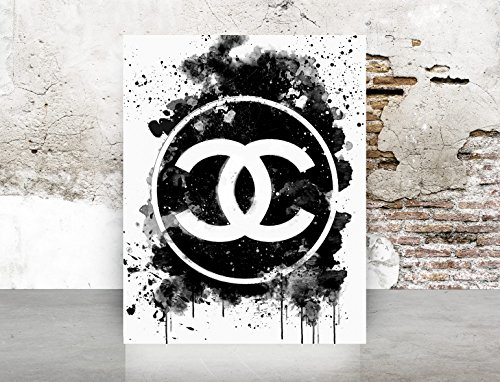 Wall Art Chanel Logo Dripping Print Poster - Pop Art, Fashion, Shoes French, Vintage, Art Deco - Logos Dior