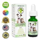 Reilly's HEMPVET Pet Supplements HEMPMAXOIL Full Spectrum Hemp Oil with Vitamin E, Dog & Cat Therapy, Health & Wellness Support, Calming, Pain Management, 1 fl oz