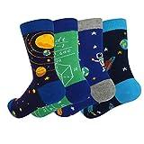 Boy's Novelty Funny Crazy Space Socks, Math