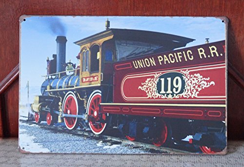 Union Pacific R.R. Metal Tin Signs Bar Rusted Poster Home Room Wall Decor (Bar 366 Halloween)