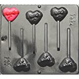 Heart with Bow Lollipop Chocolate Candy Mold Valentines Day 3024