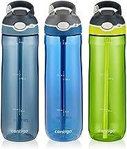 Contigo AUTOSPOUT® - Botella de agua con sorbete interno, Monaco, Vibrant Lime & Stormy Weather 3-Pack, Pa