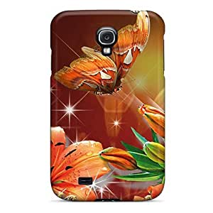 Tough Galaxy VbJUSfE6278qFIYc Case Cover/ Case For Galaxy S4(lilies Devine)