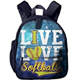 Casual Lightweight Canvas Backpacks Ive Love - Softball Bookbag Shoulder Bag School Backpack For Kids