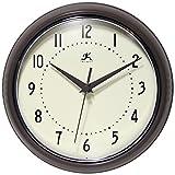 Infinity Instruments Metal Wall Clock Round Retro (Slate)
