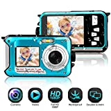 Waterproof Camera Full HD 1080P Underwater Camera 24 MP Video Recorder Selfie Dual Screen DV Recording Waterproof Digital Camera for Snorkeling