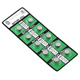 AG5 Button Cell Alkaline Battery for Calculator / Watch, 10 pack
