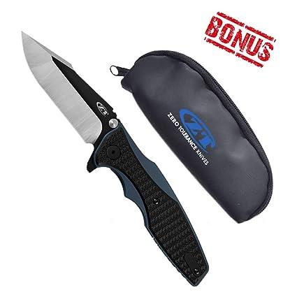 Amazon com : Zero Tolerance 0393 Hinderer Folding Knife w