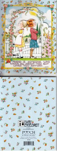 Unused Notecard entitled A Friend is Someone Who Knows All About You But Loves You Anyway Mary Engelbreit -- comes with envelope