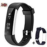 Mpow Fitness Tracker with an Extra Blue Wrist Band for Replacement, Pedometer, Track Steps,...