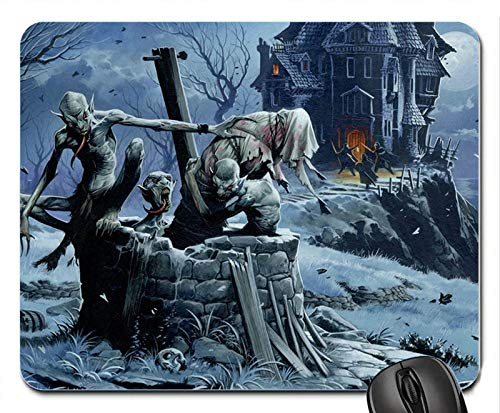 Halloween Devils Night Mouse Pad Anti Slip Desktop Mouse Pad Gaming Mouse pad]()