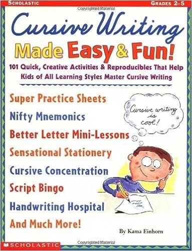 Amazon.com: Cursive Writing Made Easy & Fun!: 101 Quick, Creative ...