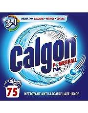 Calgon Pastilles Anticalcaire Nettoyant Lave-Linge 3en1 - 75 Tablettes
